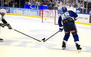 Mikael Johansson sätter 3–1 i tom kasse. Foto: Lars Dafgård/DT