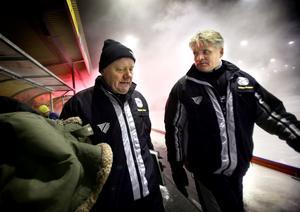 Per-Erik Saikoff (till höger) ska presenteras av ÖSK på onsdag som ny tränare i klubben.