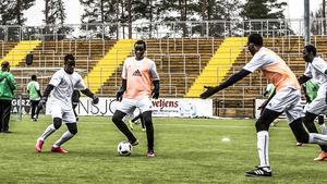 Darfur United, här på Jämtkraft Arena.