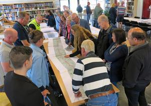 Planen för ombyggnaden av 56:an var i fokus på Knytpunkten i Strömsholm på onsdagen.