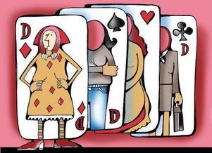 När man får spader är det bra om man har lite ruter i sig, har lite klöver på kortet och låter hjärter bestämma. Livet är en lek!
