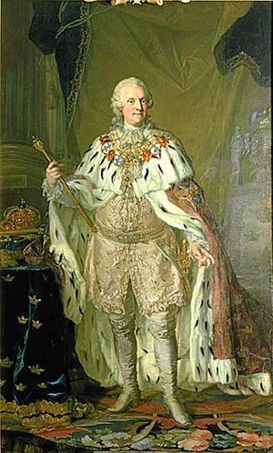 Dubbelnamnen spred sig norrut från kontinenten och kom till Sverige runt 1600-talet då det blev vanligt med två dopnamn i adliga kretsar – på bilden kung Adolf Fredrik (1751–1771).Foto: Nationalmuseum