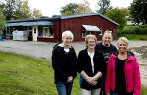 Fr.v: Kristina Westberg, Annika Strand, Palle Hellberg och Lena Hellberg