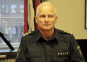 Mats Lagerblad, lokalpolisområdeschef, bekräftar att polisens ambitionsnivå i Ludvika/Smedjebacken har höjts sedan skiftet november/december förra året.