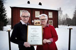 2012 tilldelades Catharina och Olof Riesenfeld kommunens skönhetspris för sitt arbete med bergsmansgården i Gonäs. Nu kan de prisas med Björkmanska kulturpriset.