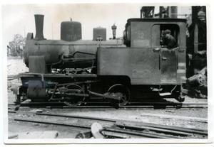 Lok nr 12 tillhörande Domnarvets järnverks smalspåriga järnväg rullar fram mot en växel för att därefter sedan växla in på ett sidospår för att hämta sin last. Ett av många foton i boken som i mångt och mycket är en våt dröm för en tåg- och industrihistoriker.