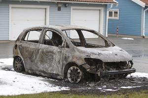 En bil brann på Blekingevägen natten till onsdag.