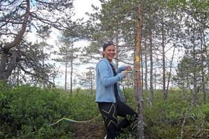 Kommunalrådet Stina Munters (C) invigde vandringsleden vid Nolåkersflotten i Järna
