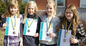 Madicken Håfberg, Matilda Hammarqvist, Elin Tofters och Isabel Håkansson. Bild: Privat.