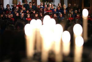 Ett hundratal körsångare från fyra körer gick väl fram i en nästan fullsatt GA-kyrka.