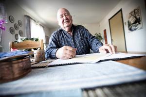 Stig Wiklund har arbetat i över 40 år som knalle, i dag pensionerad. Foto: Christian Larsen