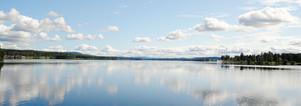 Utvecklingen av sjön Varpen – här med Långnäs udde i Bollnäs till höger – anses vara ett projekt med huvudsakligen lokal karaktär.