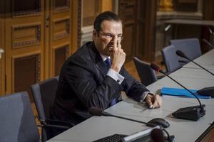 Det kan verka märkligt att en finansminister som suttit i regeringen i sju år plötsligt förklarar krig mot svensk skola, Anders Borg. Alliansen håller på med en spännande taktik – att gå i opposition mot sig själv. Foto: TT