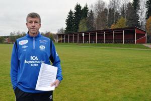 Per-Inge Nyberg, engagerad i Säters IF Fotboll, har skrivit ett medborgarförslag till Säters kommun där han föreslår att det anläggs konstgräs på A-planen på Säters IP.