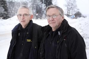 Vinter och snö kan skapa oväntade situationer - beredskapshandläggare Tomas Persson och räddningschef Lennart Juhlin tror dock Nordanstig är väl rustat.