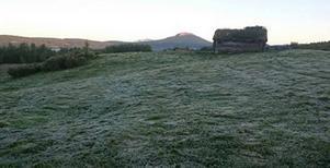 Det var inte bara kallt i Börtnan och Storlien. Vid fäboden Backmanliden var det frost under natten till tisdagen.