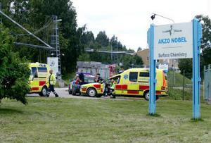 En läckande säkerhetsventil kopplat till en tank innehållande metyklorid orsakade söndagens gaslarm vis Akzo Nobel i Njurunda.