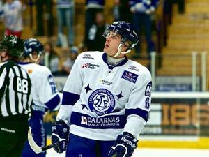 Leksandsbacken Patrik Hersley gjorde ett av målen i förlustmatchen mot Södertälje. Foto: Claes Söderberg/Arkiv/DT