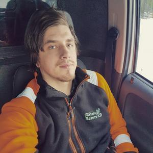 Kristoffer Andersson från Ångron, Oviken, fick vara med om en minnesvärd naturupplevelse..