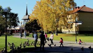 Lugnt numera. Förr var Vilhelminaparken i Fagersta tillhåll för mängder av missbrukare som skrämde bort andra från att vistas där.