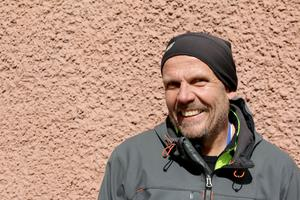 Johan Linder sprang snabbt halvmaran och inväntade sedan sonen Patrik som sprang 4,2 mil.