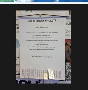 Skärmdump med bilden på annonsen som har blivit vida omtalad.
