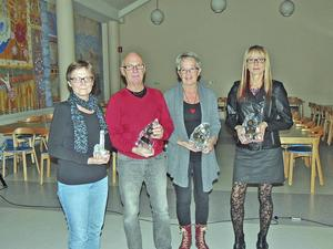 Ann-Marie Jonsson-Svahn, Göran Edgren, Carina Edgren, Monica Bodén och Kicki Andersson (ej med på bilden) prisades för fina insatser i Söderhamnsklassikern.