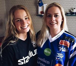 Annie och Rut-Lina Berner spelar tillsammans i Villa Lidköping. Foto: privat
