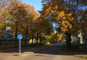 Hotad stadsmiljö i Gävle.