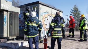 Branden i ställverket var snabbt släckt.