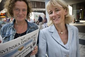Chefredaktör Lena K Samuelsson och vd Gunilla Asker på SvD lade nyss ett tufft sparpaket på tidningen. Men reklamskatten borde de slippa.