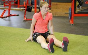 Sara Grahn tränar med Brynäs herrlag.