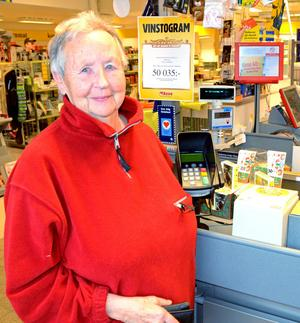 – Det ser fräscht och fint ut, säger Gertrud Johansson, Sörsjön, som 1952-1996 jobbade i Konsumbutiker, mestadels i Konsum i Sörsjön.