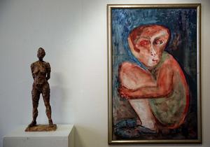 Två verk av Harriet Justrell.