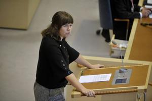 Klimat- och miljöminister Åsa Romson (MP).