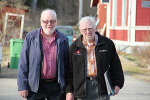 Hugo Eriksson från Friggesund och Gök-Olle Jonsson från Västansjö, Bjuråker, hade också hittat till kvällens musikcafé på Hybo bygdegård.