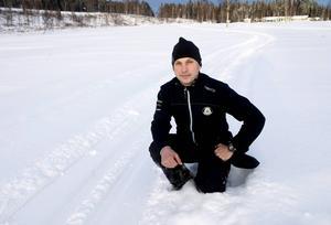 Robert Martin, banchef på Timrå golfbana, tycker att det är kul att kunna tillhandahålla skidspår på banan.