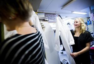 Nora Skoglund gillar sin kommande utstyrsel.