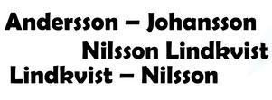 Från den 1 juli blir det möjligt att ha dubbla efternamn, dessutom med bindestreck.