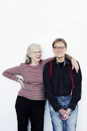 Barnboksförfattaren Jujja Wieslander och Mamma Mu-illustratören Sven Nordqvist.