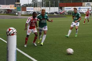 Brage vann med 3–1 mot Sandviken i den första omgången av svenska cupen.