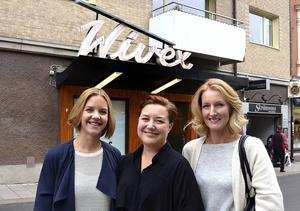 Emma Backberg på Salong Sagolik, Linda Westlund på Affären och Eva-Lena Rylander, Sagolik, blir grannar i december.