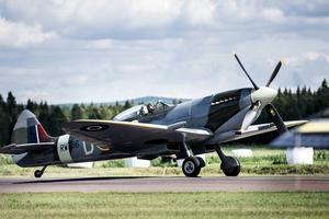 Spitfire MkIX visas upp av Per Cederqvist.