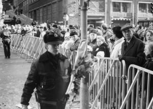 Sveavägen dagen efter mordet på Olof Palme.