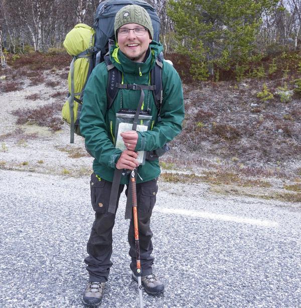Philipp Fuge vandrar från Berlin till Nordkap.