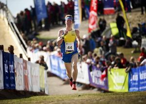 Erik Rost sprang bra på förstasträckan när EM avslutades på söndagen med stafett.