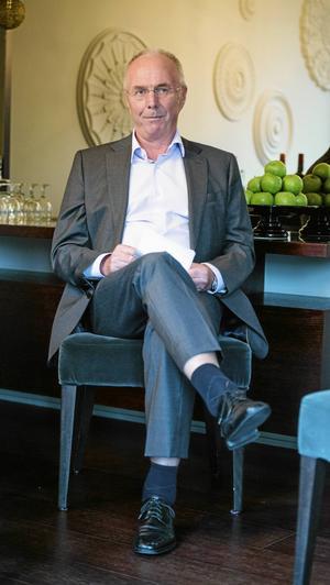 """""""Så länge man får vara frisk och kry så är en tacksam"""", säger blivande 70-åringen Sven-Göran Eriksson, som dagligen motionerar för att hålla sig i form."""