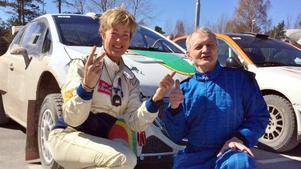 Lotta Lundqvist, co-driver MK Rimo, och stockholmaren Björn Adolfsson, KAK Motorsport blev totalvinnare i Rally Gotland.
