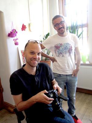 Tomas Jakobsson och Baree Khalil har ett bokprojekt ihop.