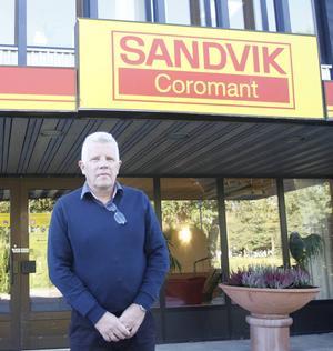 Yngve Krantz är platschef på Sandvik Coromant i Gimo.